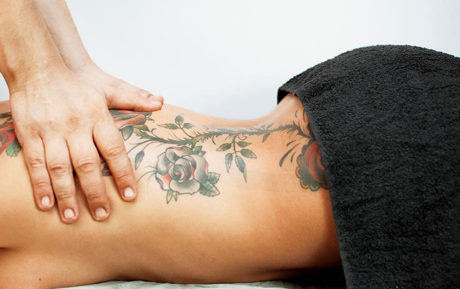 espacio de masaje