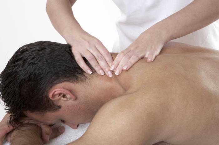 masaje del cuello