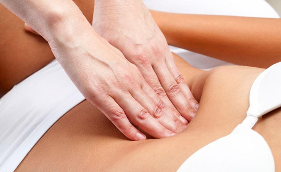 masaje del abdomen